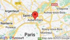 Carte de localisation du centre de contrôle technique AUBERVILLIERS