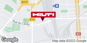Get directions to Espace Hilti - La Plateforme du Bâtiment - St Denis
