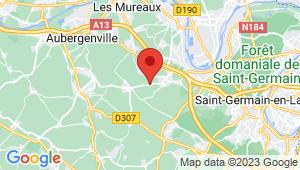 Carte de localisation du centre de contrôle technique Orgeval