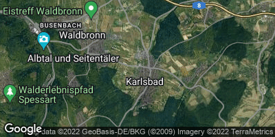 Google Map of Karlsbad