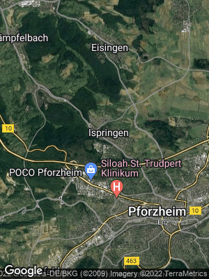 Google Map of Ispringen