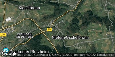 Google Map of Niefern-Öschelbronn