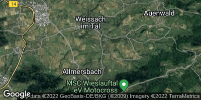 Google Map of Weissach im Tal