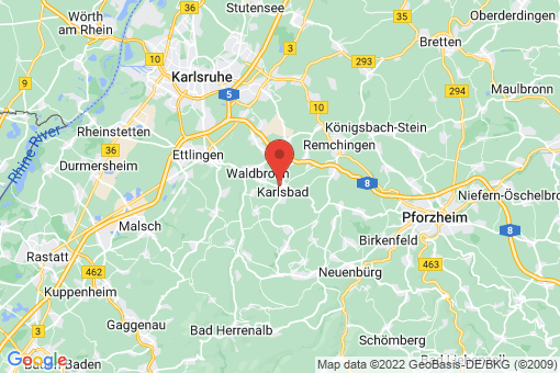 Karte Karlsbad