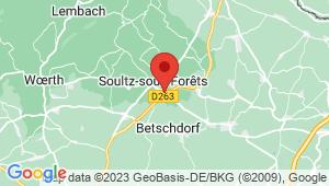 Carte de localisation du centre de contrôle technique SOULTZ SOUS FORETS