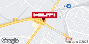 Get directions to Espace Hilti - La Plateforme du Bâtiment - La Courneuve
