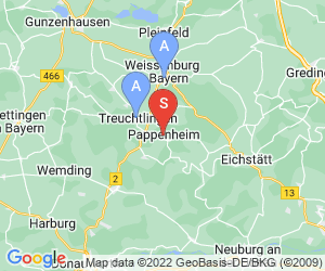 Karte für Freibad Pappenheim