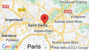 Carte de localisation du centre de contrôle technique LA COURNEUVE