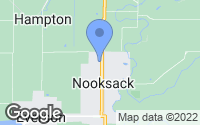 Map of Nooksack, WA