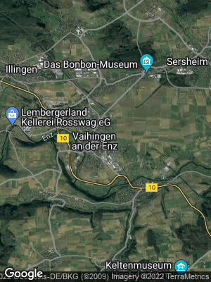 Google Map of Vaihingen an der Enz