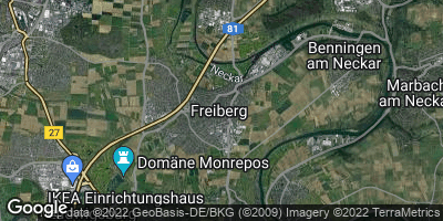 Google Map of Freiberg am Neckar