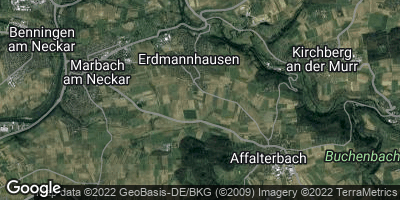 Google Map of Erdmannhausen