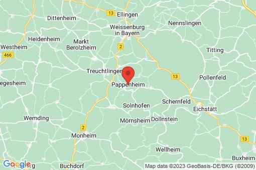 Karte Pappenheim