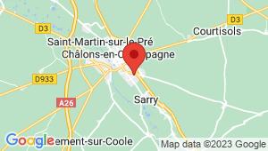 Carte de localisation du centre de contrôle technique CHALONS EN CHAMPAGNE Sud