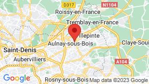 Carte de localisation du centre de contrôle technique AULNAY SOUS BOIS