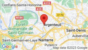 Carte de localisation du centre de contrôle technique ARGENTEUIL