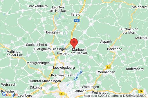 Karte Benningen am Neckar