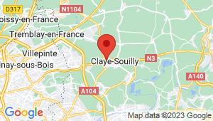Carte de localisation du centre de contrôle technique CLAYE SOUILLY