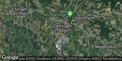Google Map of Oettingen in Bayern