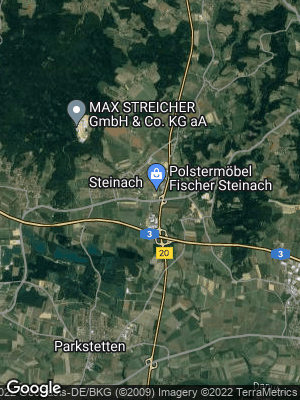 Google Map of Steinach bei Straubing
