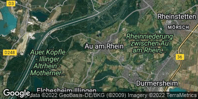 Google Map of Au am Rhein