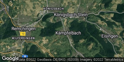Google Map of Kämpfelbach