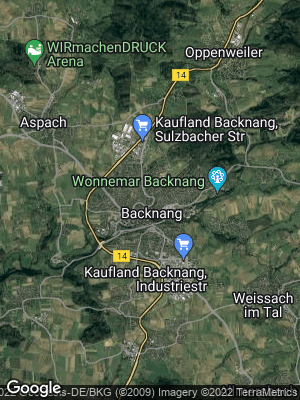 Google Map of Backnang