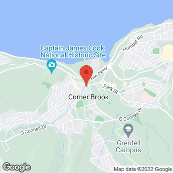 Map of Tim Hortons at 1 Mount Bernard Ave, Corner Brook, NL A2H 6G1