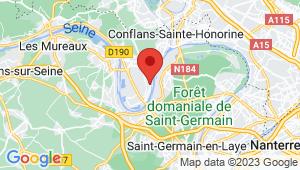 Carte de localisation du centre de contrôle technique CARRIERES SOUS POISSY