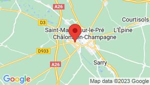Carte de localisation du centre de contrôle technique CHALONS EN CHAMPAGNE