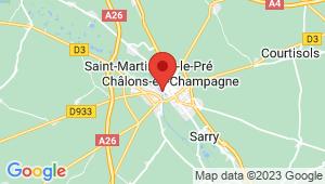 Carte de localisation du centre de contrôle technique CHALONS SUR MARNE