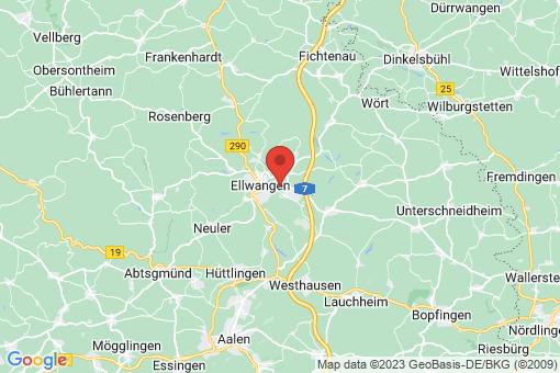 Karte Ellwangen (Jagst)