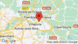 Carte de localisation du centre de contrôle technique TREMBLAY EN FRANCE