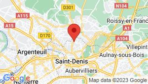 Carte de localisation du centre de contrôle technique Pierrefite sur Seine