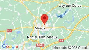 Carte de localisation du centre de contrôle technique MEAUX