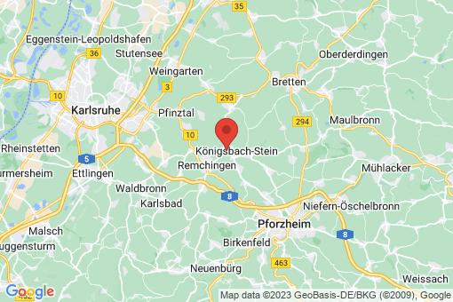 Karte Königsbach-Stein