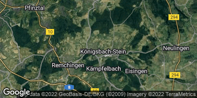 Google Map of Königsbach-Stein