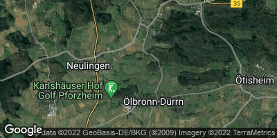 Google Map of Ölbronn-Dürrn