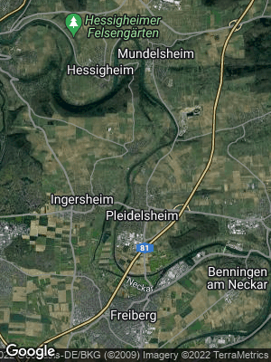 Google Map of Pleidelsheim