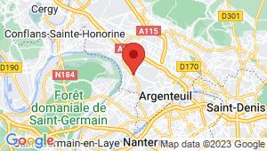 Carte de localisation du centre de contrôle technique CORMEILLES EN PARISIS