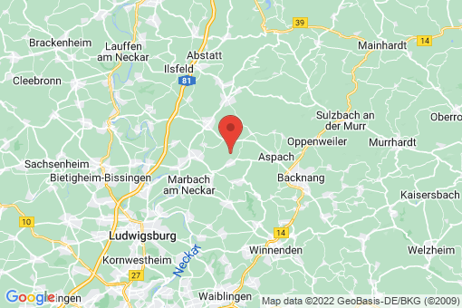 Karte Marbach am Neckar