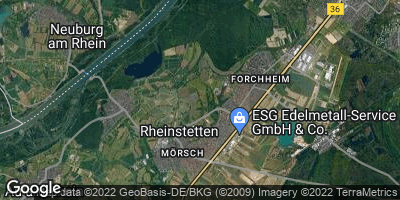Google Map of Rheinstetten