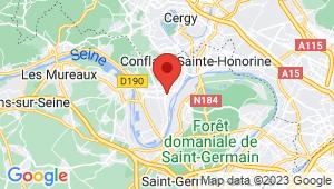 Carte de localisation du centre de contrôle technique ANDRESY