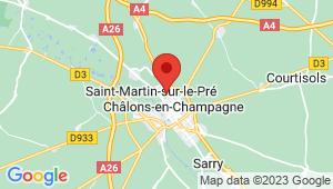 Carte de localisation du centre de contrôle technique CHALONS EN CHAMPAGNE Nord