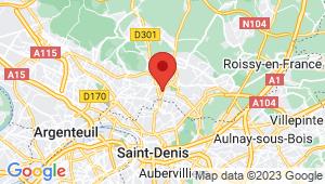 Carte de localisation du centre de contrôle technique SARCELLES