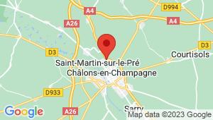 Carte de localisation du centre de contrôle technique SAINT MARTIN SUR LE PRE