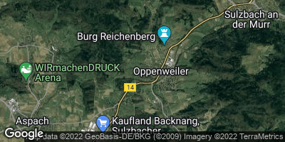 Google Map of Oppenweiler