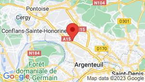 Carte de localisation du centre de contrôle technique MONTIGNY LES CORMEILLES
