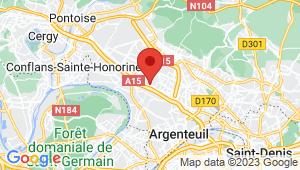 Carte de localisation du centre de contrôle technique FRANCONVILLE