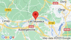 Carte de localisation du centre de contrôle technique LES MUREAUX